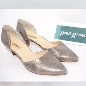 🆕Paul Green D'orsay Pointed Toe Heel Pump Leather